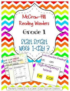 McGraw-Hill Reading Wonders Start Smart Week 1 Day 3 FlipChart