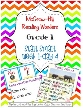 McGraw-Hill Reading Wonders Start Smart Week 1 Day 4 FlipChart