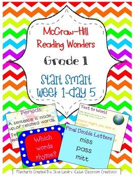 McGraw-Hill Reading Wonders Start Smart Week 1 Day 5 FlipChart