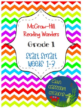 McGraw-Hill Reading Wonders Start Smart Weeks 1-3 Bundle FlipCharts