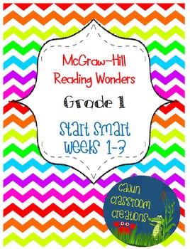 McGraw-Hill Reading Wonders Start Smart Weeks 1-3 Bundle FlipCharts