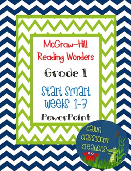 McGraw-Hill Reading Wonders Start Smart Weeks 1-3 PowerPoint Bundle