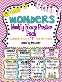 Third Grade Weekly Focus Wall Posters to Correlate with Wonders - UNIT 1
