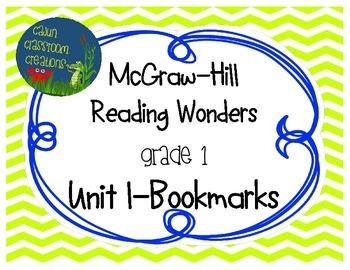 McGraw-Hill Reading Wonders Unit 1 Bookmarks