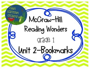 McGraw-Hill Reading Wonders Unit 2 Bookmarks