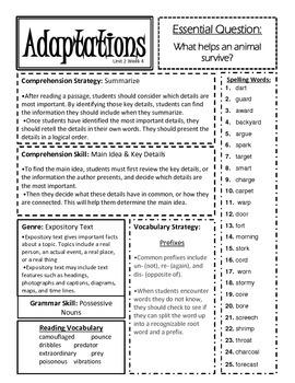 McGraw Hill Reading Wonders Unit 2 Focus Sheets