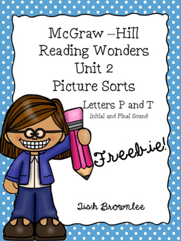 McGraw Hill Reading Wonders Unit 2 Picture Sort Freebie