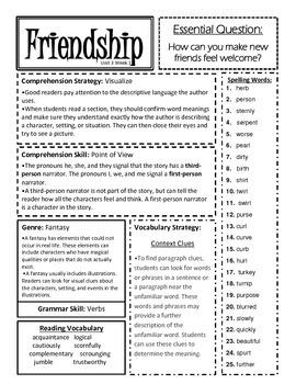 McGraw Hill Reading Wonders Unit 3 Focus Sheets