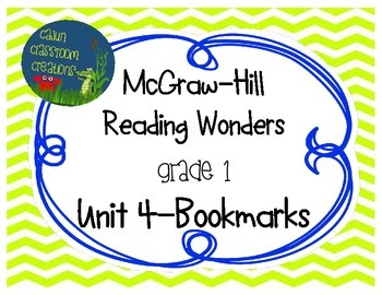 McGraw-Hill Reading Wonders Unit 4 Bookmarks