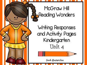 McGraw Hill Reading Wonders Unit 4 Kindergarten