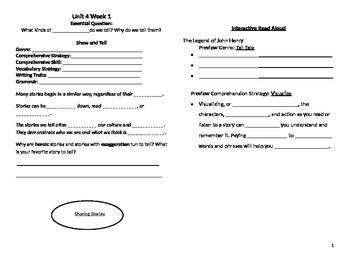 McGraw Hill Reading Wonders Unit 4 Week 1 Interactive Journal