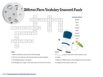 McGraw Hill Reading Wonders © 2nd Grade Unit 4 Week 1 Vocab Crossword Puzzle
