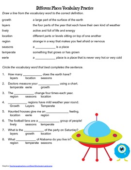 McGraw Hill Reading Wonders © 2nd Grade Unit 4 Week 1 Voca