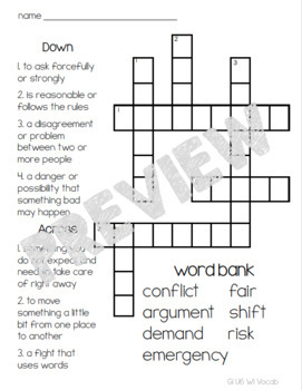 McGraw-Hill Reading Wonders Vocabulary Crossword Puzzle Bundle
