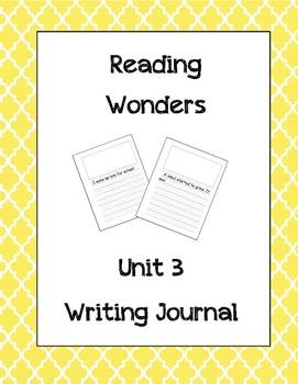 McGraw Hill Reading Wonders Writing Journal 1st Grade Unit 3