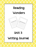 McGraw Hill Reading Wonders Writing Journal 1st Grade Unit 3