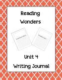McGraw Hill Reading Wonders Writing Journal 1st Grade Unit 4