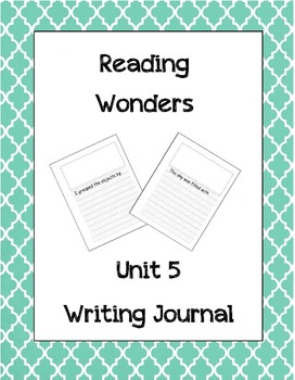 McGraw Hill Reading Wonders Writing Journal 1st Grade Unit 5