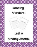 McGraw Hill Reading Wonders Writing Journal  1st Grade Unit 6