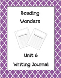 McGraw Hill Reading Wonders Writing Journal  1st Grade Unit 6