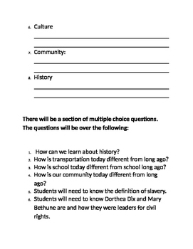 McGraw Hill Social Studies test Our Community and Beyond Unit 1 Study Guide
