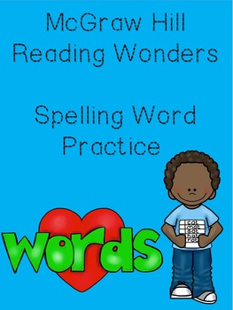 McGraw Hill Spelling Words Homework for the Year