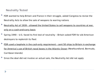 McGraw Hill US History Ch 11 Lesson 2 Neutrality to War WWII World War Two