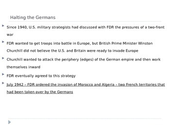 McGraw Hill US History Ch 12 Lesson 3 WWII The War in Europe World War II
