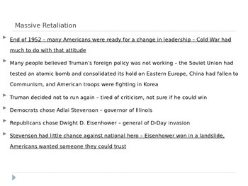 McGraw Hill US History Ch 13 Lesson 4 Eisenhower's Cold War Policies
