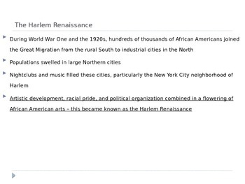 McGraw Hill US History Ch 8 Lesson 5 African American Culture & Politics