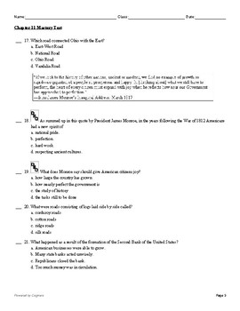 McGraw Hill US History Chapter 11 Test