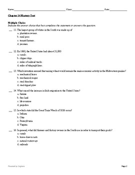 McGraw Hill US History Chapter 14 Test