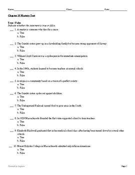 McGraw Hill US History Chapter 15 Test