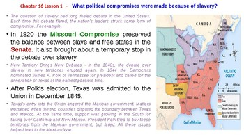 McGraw Hill US History Chapter 16 Powerpoint \