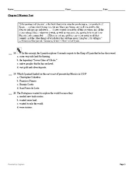 McGraw Hill US History Chapter 2 Test