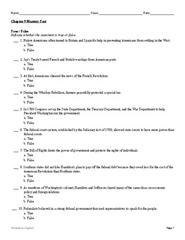 McGraw Hill US History Chapter 9 Test
