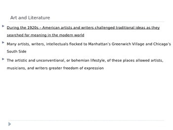 McGraw Hill US History Geography Ch 8 Lesson 4 Cultural Innovations of the 1920s