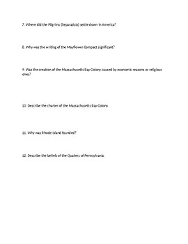 McGraw Hill US History & Geography First Unit HW