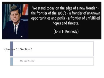 McGraw Hill US History and Geography Ch 15 Lesson 1 JFK The New Frontier