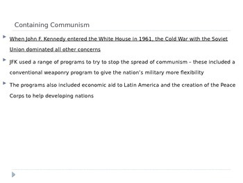 McGraw Hill US History and Geography Ch 15 Lesson 2 JFK and the Cold War