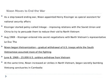 McGraw Hill US History and Geography Ch 17 Lesson 3 Vietnam War Winds Down