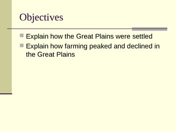 McGraw Hill US History and Geography Ch 2 Lesson 2 Farming the Plains