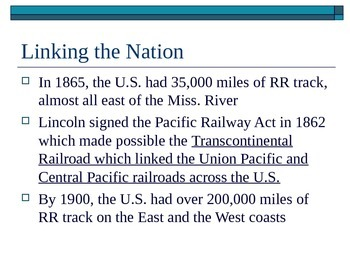 McGraw Hill US History and Geography Ch 3 Lesson 2 Railroads