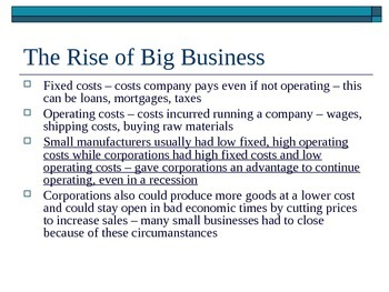 McGraw Hill US History and Geography Ch 3 Lesson 3 Big Business