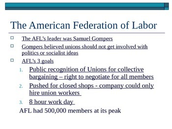 McGraw Hill US History and Geography Ch 3 Lesson 4 Unions