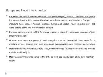 McGraw Hill US History and Geography Ch 4 Lesson 1 Immigration