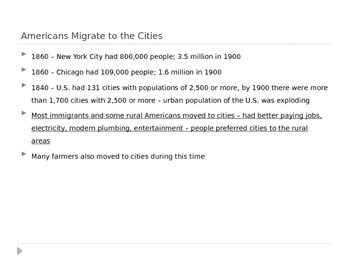 McGraw Hill US History and Geography Ch 4 Lesson 2 Urbanization