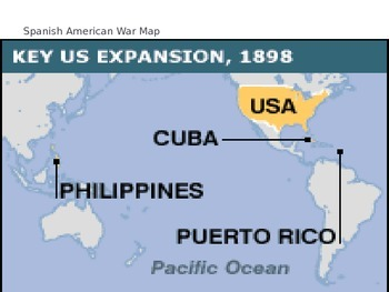 Spanish American War Philippines Map.Mcgraw Hill Us History And Geography Ch 5 Lesson 2 The Spanish