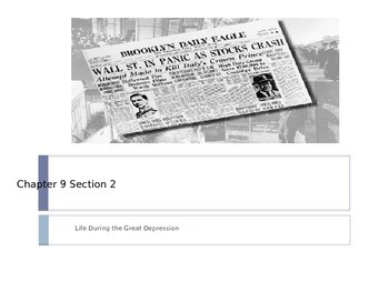 McGraw Hill US History and Geography Ch 9 Lesson 2 Life During Great Depression