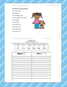 McGraw Hill Unit 2 Grammar Tests